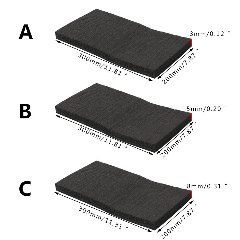 2 Sheets Graphite Carbon Fiber Felt Soft High Temperature Carbon Fiber For Contamination Adsorption Cleaning
