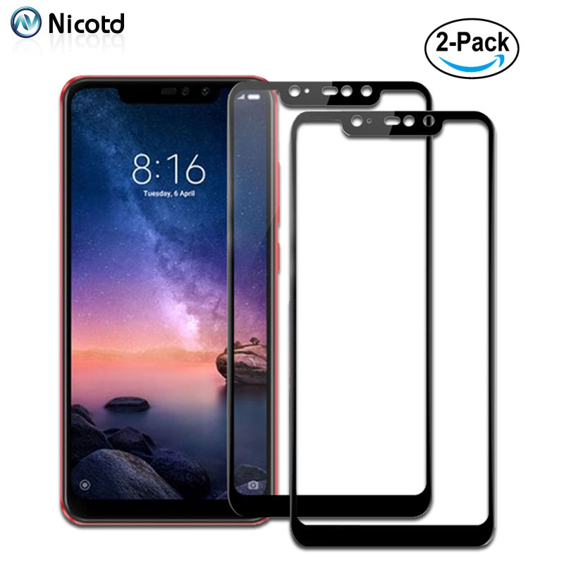 2pcslot Full Coverage Premium Tempered Glass For Xiaomi Redmi Note 6 pro Screen Protector For Xiomi Redmi 6A 6 Note 5A 5 Pro 4X