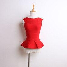BEAUKEY Модные топы без рукавов рыбий хвост жилет Тонкая талия сексуальная Длинная повязка эласткс топы красный 6 цветов размера плюс XL