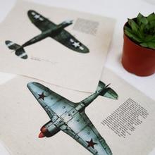Zakka mão tingido 2 assorted impresso linho algodão patchwork tecido 20×20 cm para diy costura quilting têxtil de casa decoração avião
