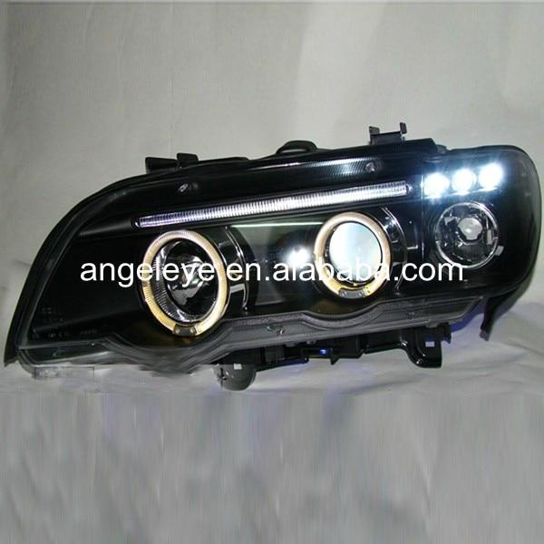 1998-2003 год BMW для Х5 Е53 фара заднего света ангельские глазки черный корпус дя
