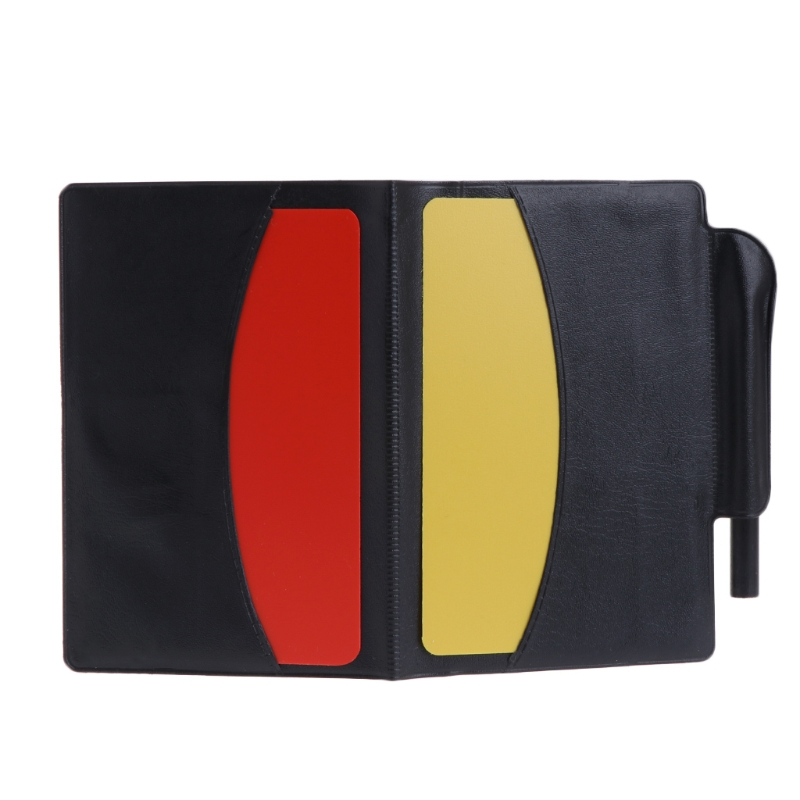 Fee Shipping New Sport Football Soccer Referee Wallet Notebook With Red Card And Yellow Card
