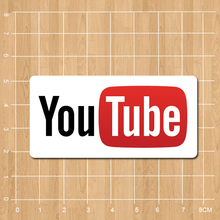 Youtube Logo Notebook/refrigerator/skateboard/trolley case/backpack/Tables/book sticker PVC sticker
