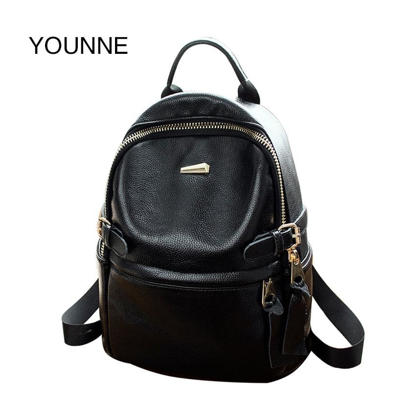 YOUNNE PU Backpacks Women High Quality Crossbody Bags Designer Travel Bags Teenager Girls School Bags Satchels for Student 2018