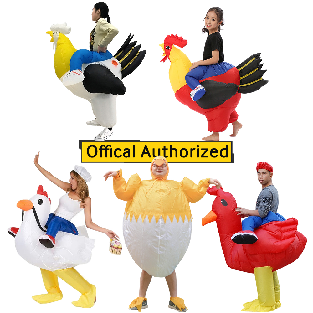 Halloween Cosplay Inflatable Rooster Costume Blow Up Suit Party Carnival Fancy Dress for Purim Adult Chicken Hen Stag Night Men in Movie TV costumes from Novelty Special Use