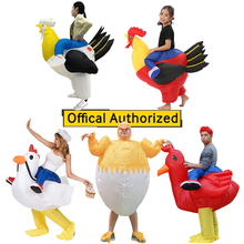 Halloween Cosplay Inflatable Rooster Costume Blow Up Suit Party Carnival Fancy Dress for Purim Adult Chicken Hen Stag Night Men chicken inflatable rooster rider costumes for adults halloween carnival cosplay party fancy dress women men birthday outfits red