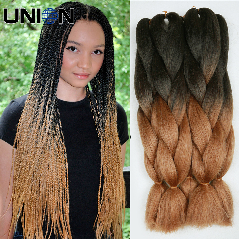 braiding hair black brown gray crochet box braids two tone jumbo braid ...