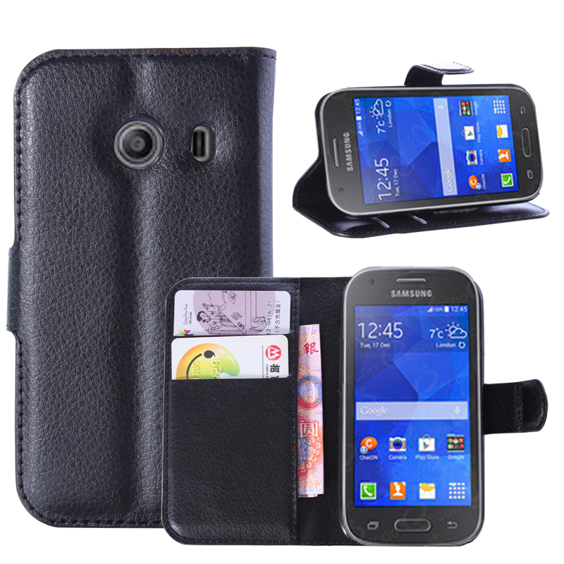 Wallet Flip Leather Case For <font><b>Samsung</b></font> Galaxy Ace Style <font><b>G310</b></font> G310HN 4.0-inch phone Leather back Cover case with Stand Etui> image