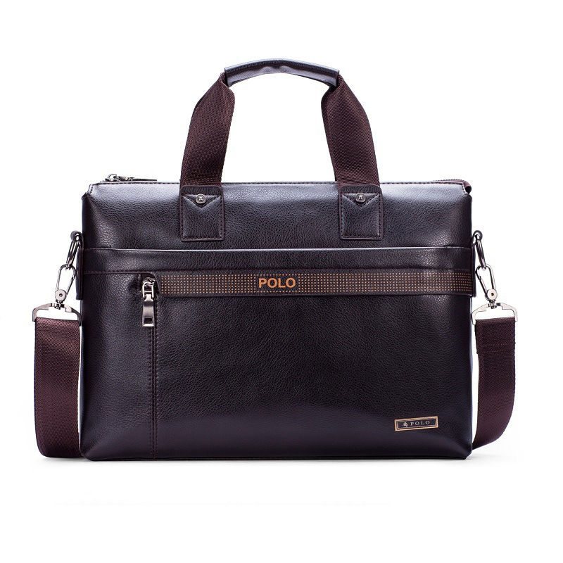 Men's Briefcase Tote Computer-Bag Business Casual Luxury New Boy Male Hot Fashion Letter
