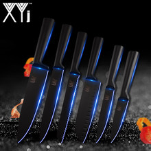 XYj Knife Tools Stainless Steel Knife Kitchen Knives 6 Pcs Set Cutlery Japanese Chef Kitchen Knife Set Fruit Vege Accessories(China)