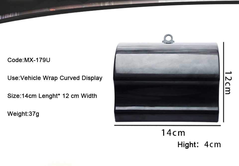 Image 5 - 14*12*4cm Curved Display Panels Custom Paint Display Speed Shapes For Car Wrap Vinyl / Plasti Dip Display MO 179U 100pcs/Pack-in Car Stickers from Automobiles & Motorcycles