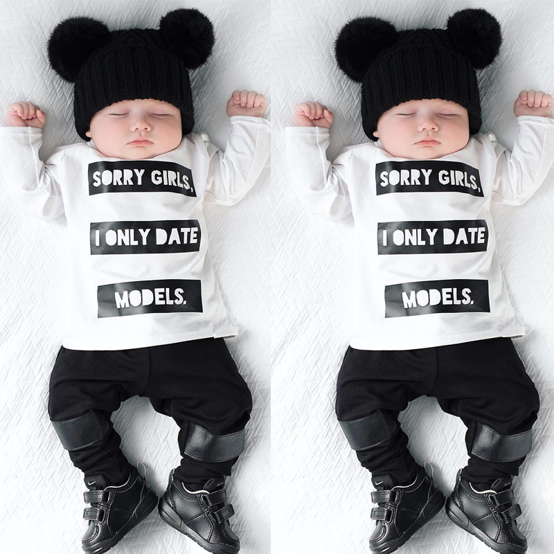 00b01e86cf3f 2019 high quality Baby boy clothes Long sleeve T shirt + pants 2PCS newborn  Clothes baby girl clothing set infant suit