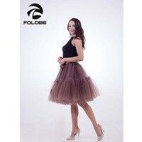 FOLOBE Brun Vintage Ballet Tutu Tulle Jupes Femmes Plissée American Apparel Lolita Jupon faldas mujer saias Jupe