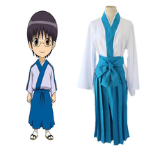 Anime GINTAMA Cosplay Costumes Shimura Shinpachi Swordwear Full Sets Halloween Carnival Party Silver Soul