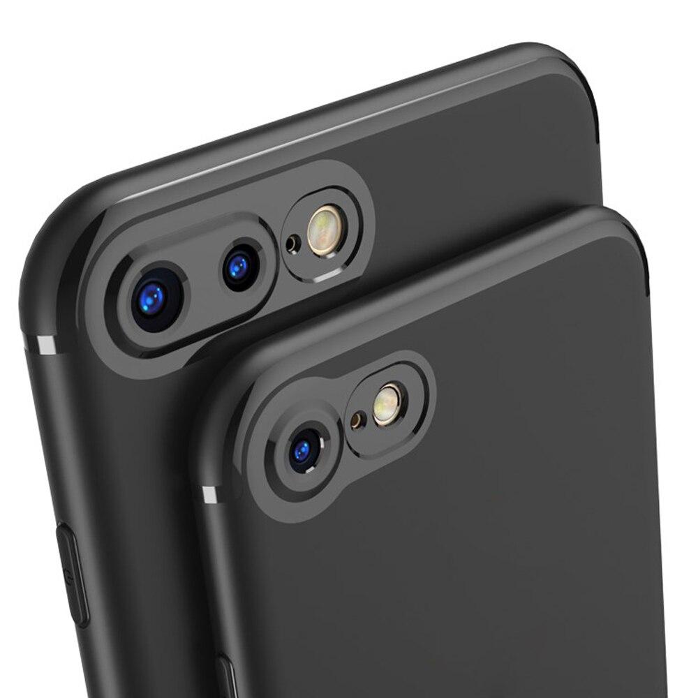 Для <font><b>iPhone</b></font> 7 Чехол тонкий матовый Мягкая силиконовая Резина ТПУ Объективы для фотоаппаратов Full Cover Телефонные Чехлы Кепки для <font><b>iPhone</b></font> 7 6S 6 plus
