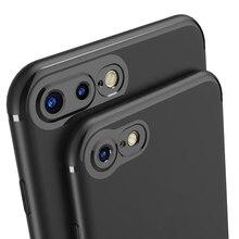 Для iPhone 7 Дело Тонкий Матовый Мягкая Силиконовая Резина ТПУ Объектив Камеры протектор Полное Покрытие Телефон Случаях Крышка Для iPhone 7 6 s 6 Плюс
