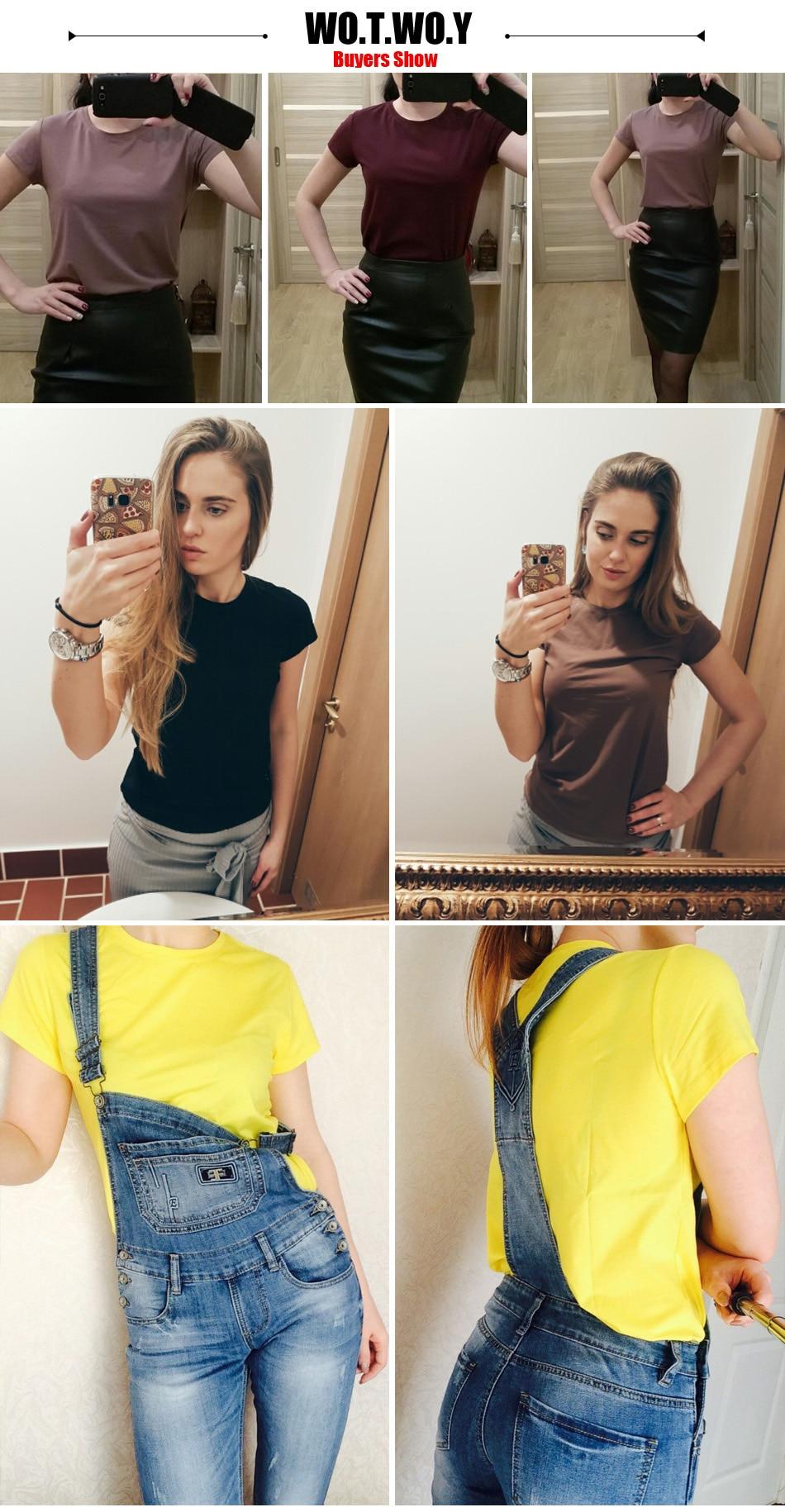 HTB1Jl0vRFXXXXXQXXXXq6xXFXXX7 - High Quality Plain T Shirt Women Cotton Elastic Basic T-shirts