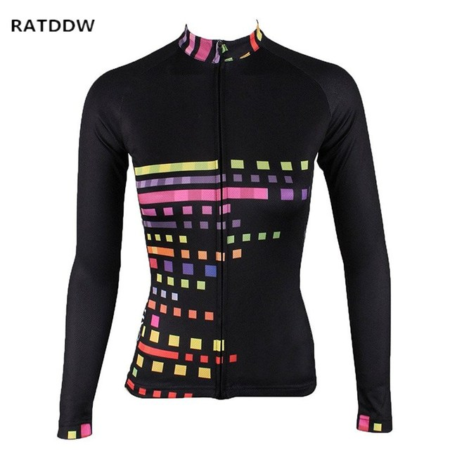 Women s Winter Thermal Fleece Bicycle Cycling Jersey Long Sleeve Shirts Top  MTB Cycle Jersey Ropa Ciclismo 6f33b4715
