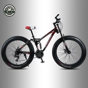 Image 2 - Aşk özgürlük yüksek kaliteli bisiklet 21/24 hız dağ bisikleti 26 inç 4.0 yağ lastik kar bisikleti çift diskli şok emici bisiklet
