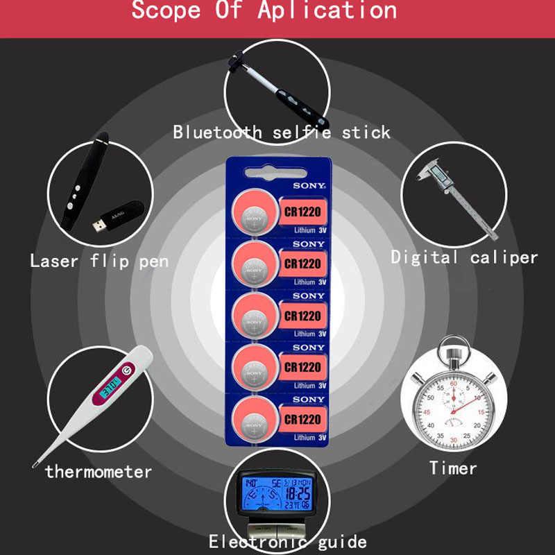4 Sony CR1220 100% Nguyên Bản Pin Lithium Cho Chìa khóa xe ô tô Đồng hồ đồ chơi điều khiển từ xa CR 1220 ECR1220 GPCR1220 NÚT cell pin
