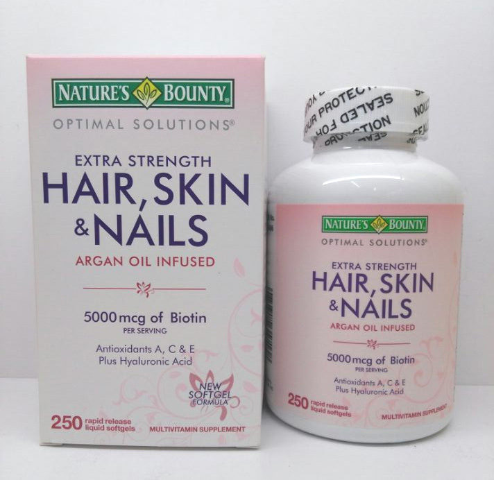 Hair,Skin & Nails 5000 mcg fo biotin 250 pcs Antioxidants A,C & E Plus hyaluronic Acid краскораспылитель bosch pfs 5000 e 0603207200