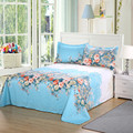160x230cm/200x230cm Sunflower Plant Flowers Skirt Bed Sheet Brushed Cotton Skin-friendly Bed Sheet And Pillowcase Bed Sheet