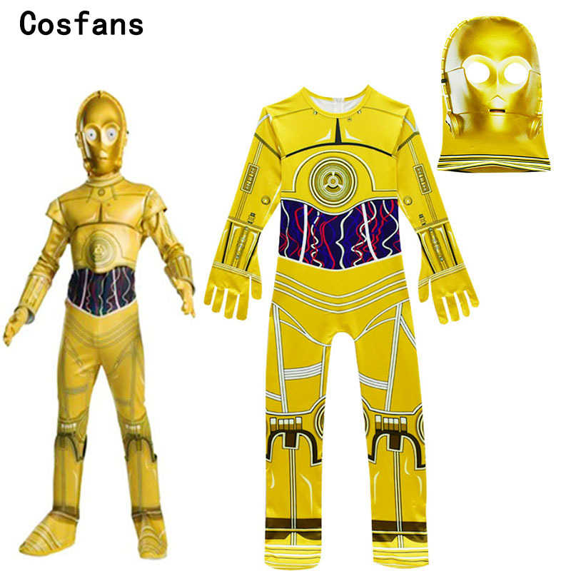 Kids Cosplay Costumes Boys Jumpsuits Star Wars Movie Robot Cosplay Children  Festive Party Supplies Kids Robot cca20d494