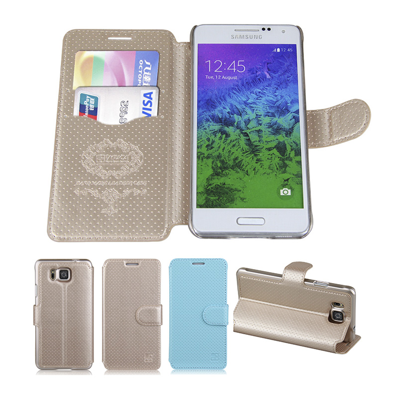 luxury leather flip cases For Samsung Galaxy Alpha G850 G850F G8508 G8508S G8509V case cover shell phone accessories IMUCA Bag