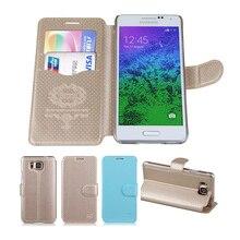 Роскошный кожаный флип чехлы Для Samsung Galaxy Альфа G850 G850F G8508 G8508S G8509V дело shell обложка телефоны, аксессуары IMUCA Мешок
