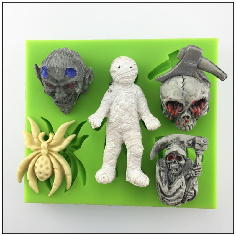 Хелоуин мумия, паяк дизайн силиконова - Кухня, трапезария и бар