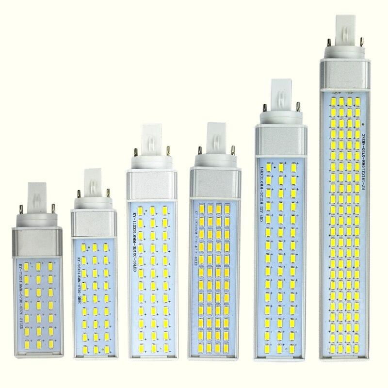 Led-strahler 10 W 12 W 15 W 18 W 20 W 25 W E27 G24 G23 Led Mais Birne Lampe Licht Smd 5730/5630 Scheinwerfer 180 Grad Ac85-265v Horizontale Stecker Licht