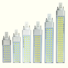 цена на 10W 12W 15W 18W 20W 25W E27 G24 G23 LED Corn Bulb Lamp Light SMD 5730/5630 Spotlight 180 Degree AC85-265V Horizontal Plug Light