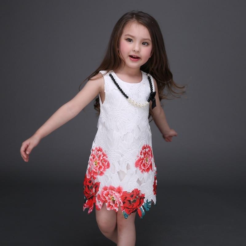 2016 модные кружевные вечерние праздничные платья с цветочным принтом для маленьких девочек платье принцессы детская свадебная одежда детск...