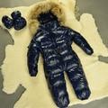 Baby Snowsuit Infant Boys Snowsuit 0-24 Months Down Blue Newborn Baby Boy Winter Clothes Warm High Quality Newborn Snowsuit