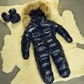 Traje para la Nieve bebé Infantil Niños Snowsuit 0-24 Meses Azul Recién Nacido Bebé Recién Nacido Ropa de Invierno Caliente de Alta Calidad traje para la nieve