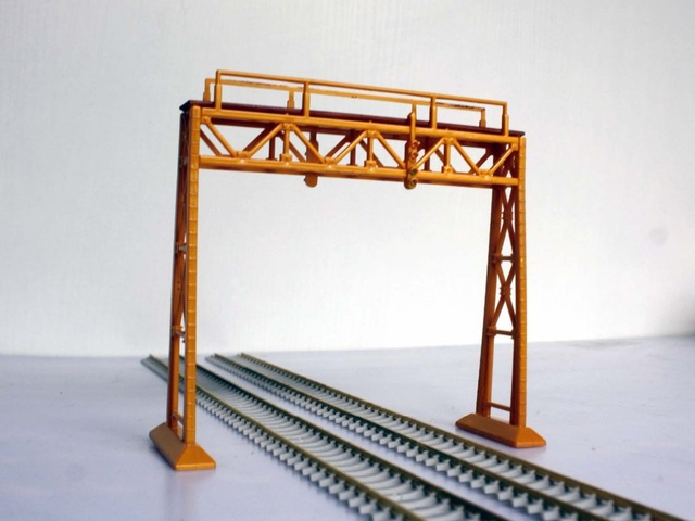1/87 Model Train ho Scale Diy Dual Signal Steel Frame Building Sand ...