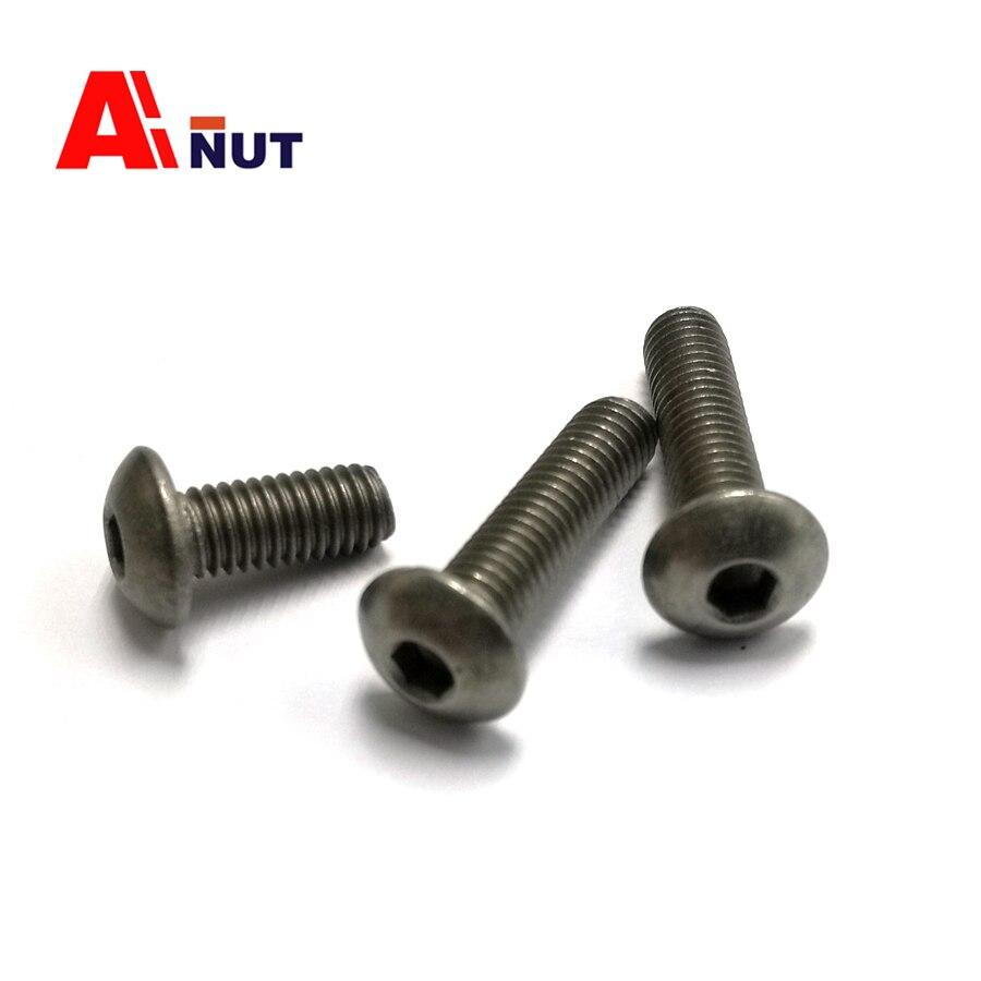 Image 2 - m3 m4 m5 m6 Titanium screw hex socket button head screw kit, ISO 7380 Titanium bolt , super light screws antirust fastener-in Bolts from Home Improvement