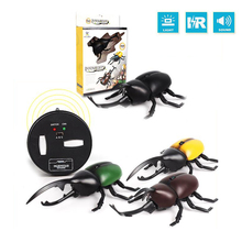 Lighting Infrared RC Beetle Simulative Remote Control Animal Electric Toy with Sound Funny Novelty Terrifying Christmas Kid Gift