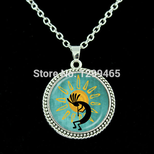 Fertility diety choker statement Necklace Wholesale Charms Jewelry Kokopelli Sun Dance resin cock Southwest chain necklace N 391