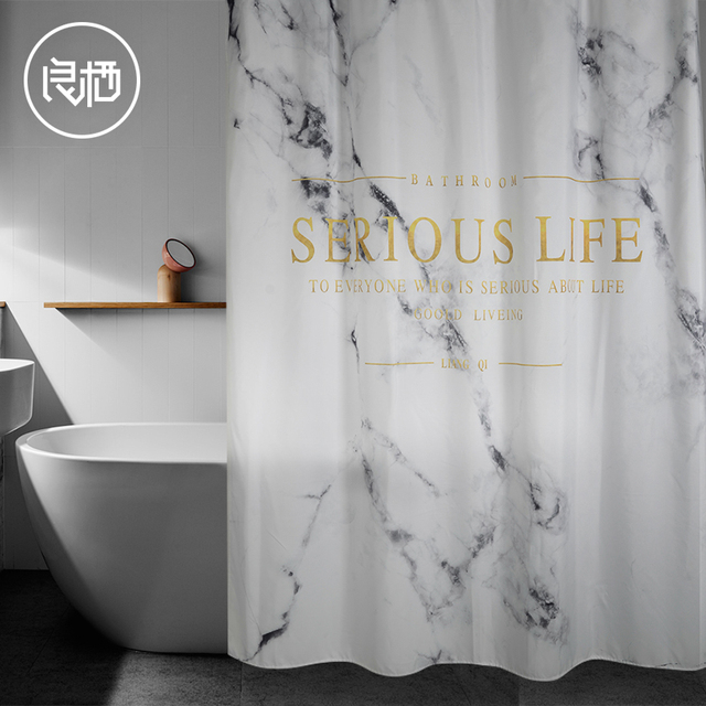 LIANG QI Nordic style polyester bathroom waterproof mildew shower ...
