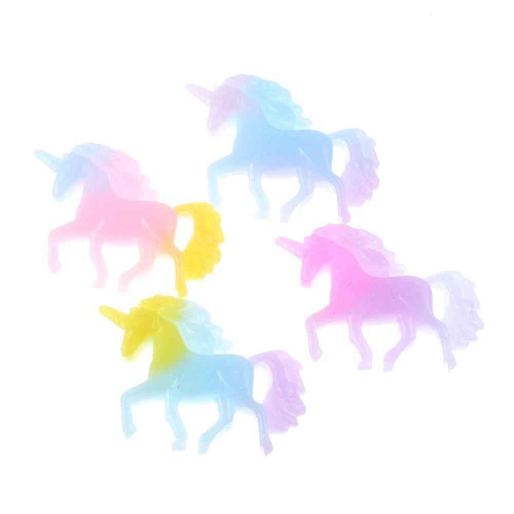 20Pcs Gradient Resin Unicorn Decoration Crafts Flatback Cabochon Scrapbooking Fit Phone Embellishments Accessories