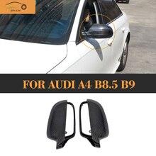 Replaced Carbon fiber Rear View Mirror Cover for Audi A4 B8.5 B9 2013 - 2015 стоимость
