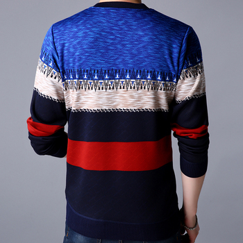 2019 brand casual autumn winter warm pullover knitted striped male sweater men mens thick mens sweaters jersey clothing 41200 1