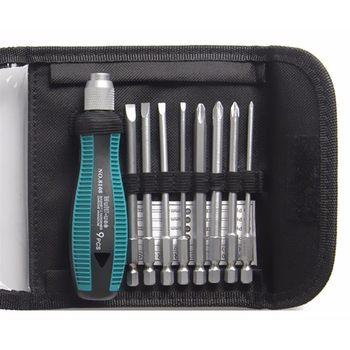 PENGGONG Screwdriver Set 1/4 Inch 6.35mm Phillips Bits Set With Magnetic Multi Tools Electronic Repair Hand Tools Kit 9 Pcs