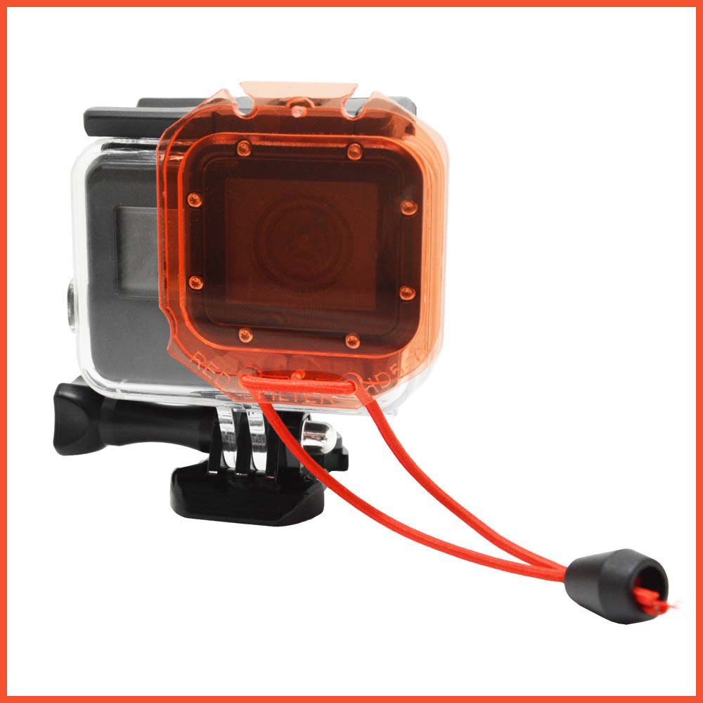 New Red Underwater Diving Lens Filter With Rope For GoPro Hero 5 6 Standard Housing Case For Go Pro 5 6 Action Cam Accessory
