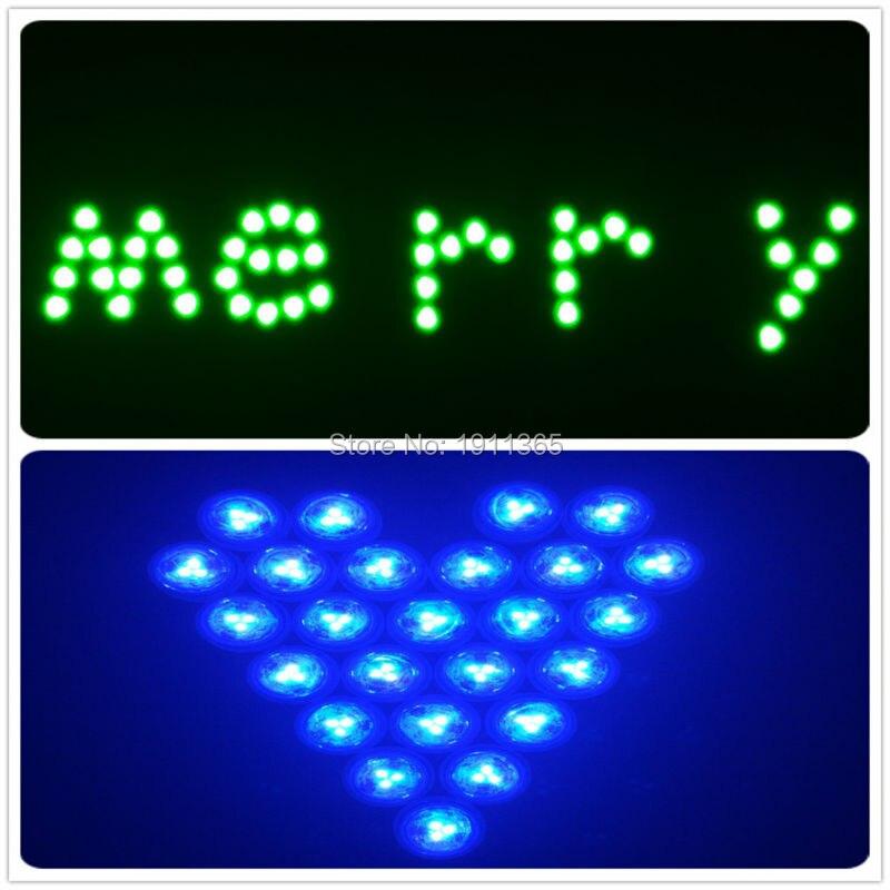 50pcs Hiasan Perkahwinan Kawalan Jauh Submersible LED Parti Jadual - Pencahayaan perayaan - Foto 5