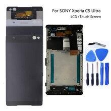 """Sony Xperia için C5 E5506 E5533 E5563 E5553 6.0 """"Ile kutusu LCD dokunmatik ekran ekran için Sony Xperia C5 cep telefonu tamir parçaları"""