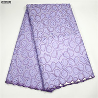 Latest Nigerian Laces 2017 African Dry Lace 100 Cotton Lilac African Stones Lace Evening Dress Fabric