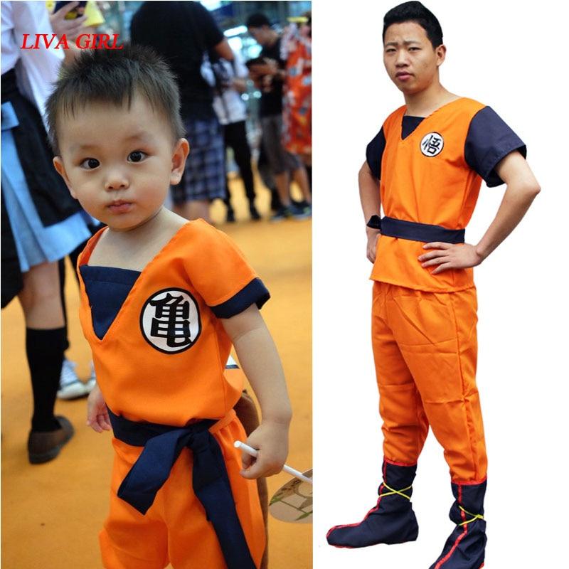 Adult Mens/Children's Anime Dragon Ball Z Monkey Cosplay Costumes Boys Son Goku Costume Kids Halloween Japanese Costume For Men