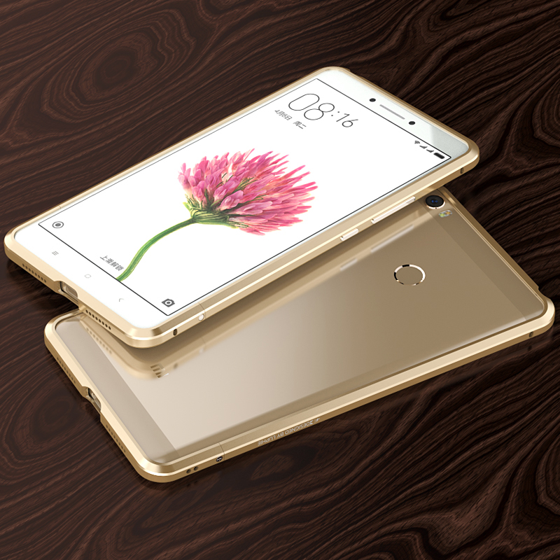 Brand Luphie Luxury Aluminum Metal Frame Bumper For Xiaomi Max Mi Max Shockproof Ultra Thin Aircraft